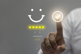 smiley face indicating good customer service
